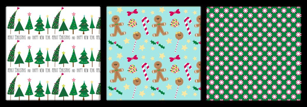 grafische prints voor verschillende kerst producten