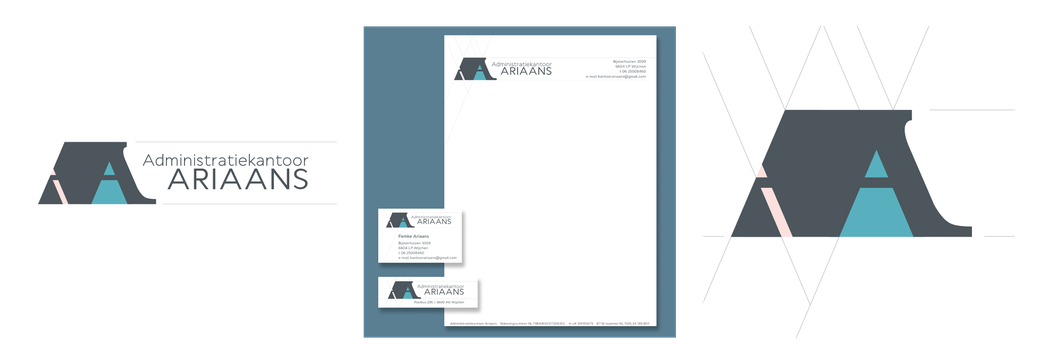 Administratiekantoor Ariaans | logo | briefpapier | visitekaart | adressticker