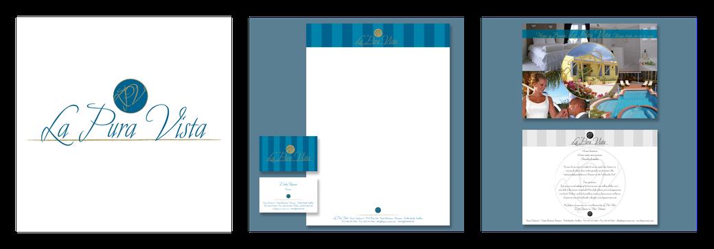 La Pura Vista | logo | briefpapier | visitekaart | beurs ansichtkaart