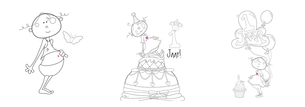 illustraties voor uitnodiging kinderfeestje