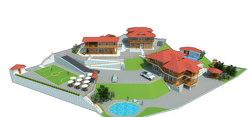 geplante Häuser auf dem gekauften Gelände in La Maná