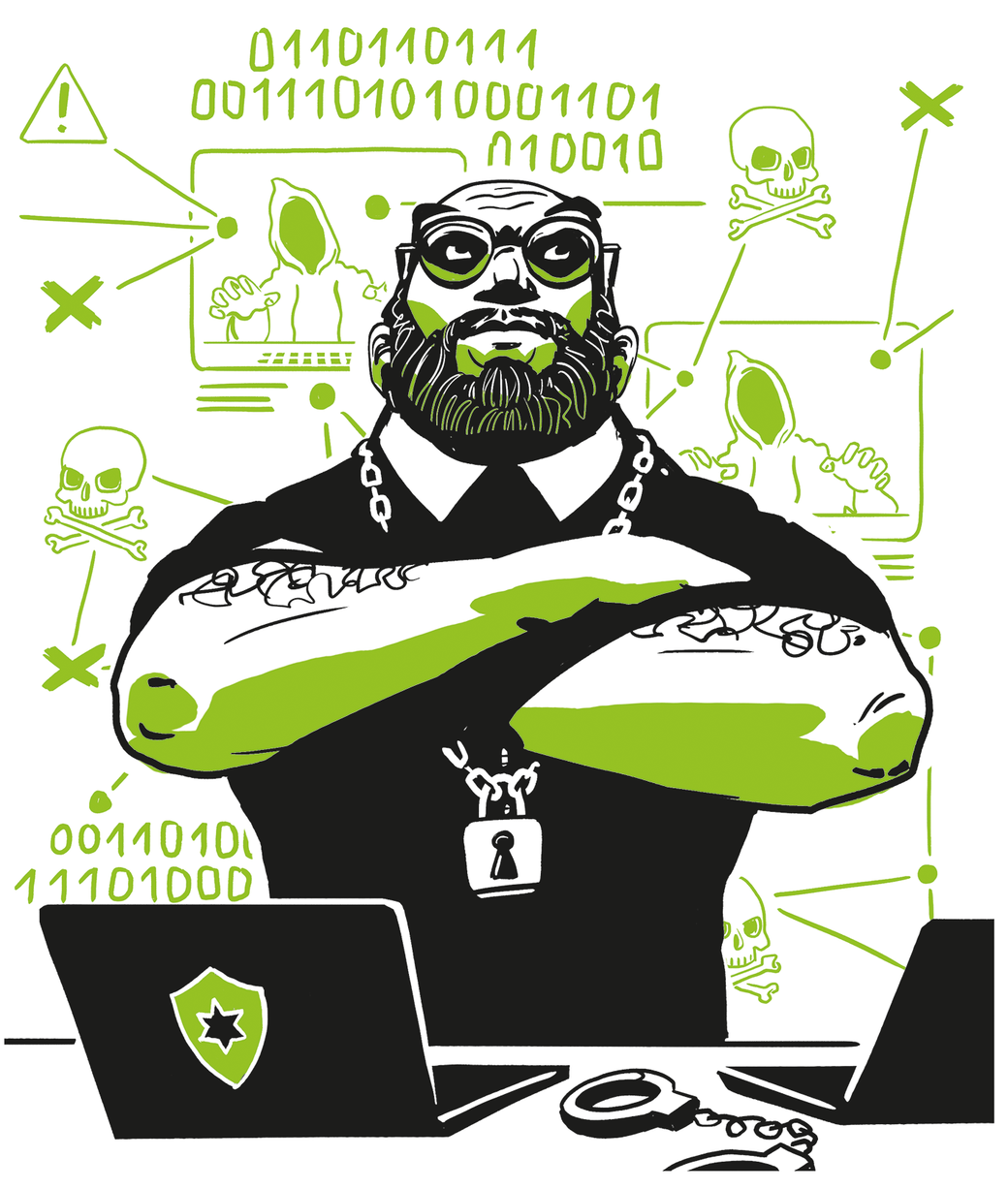 Characterillustration Cybersecurity