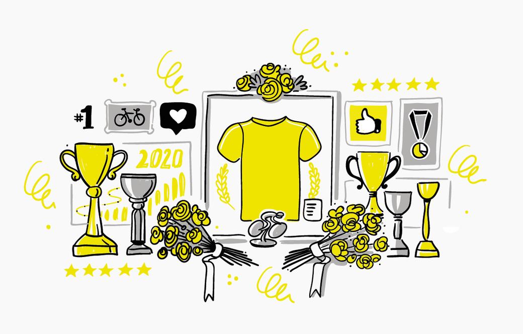 Fahrradsport Erfolge Illustration