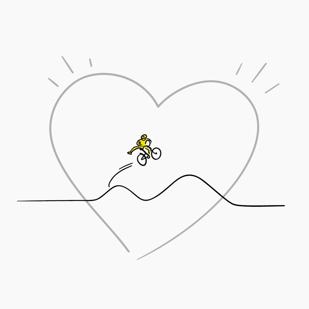 Mein Herz schlägt fürs Rad Illustration