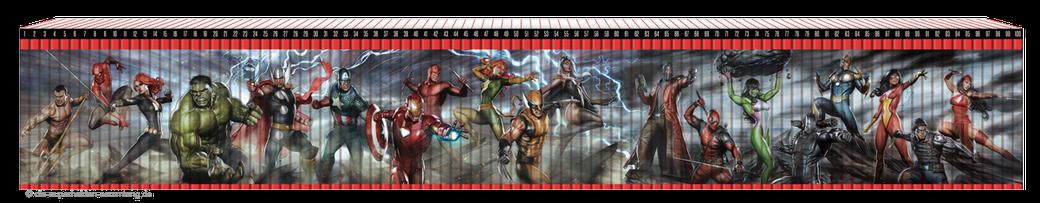 Superhelden Sammlung Rückenmotiv Sammelmotiv alle Bände FANwerk Blog Übersicht