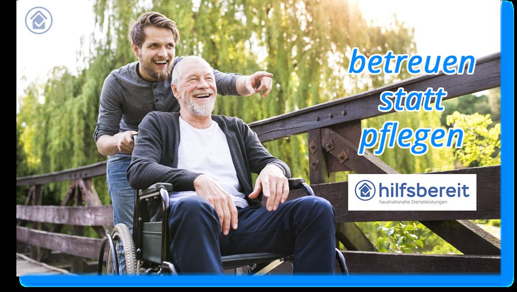 hilfsbereit.org - Startseite - Abschnitt Info zu betreuen statt pflegen von Senioren in Itzehoe