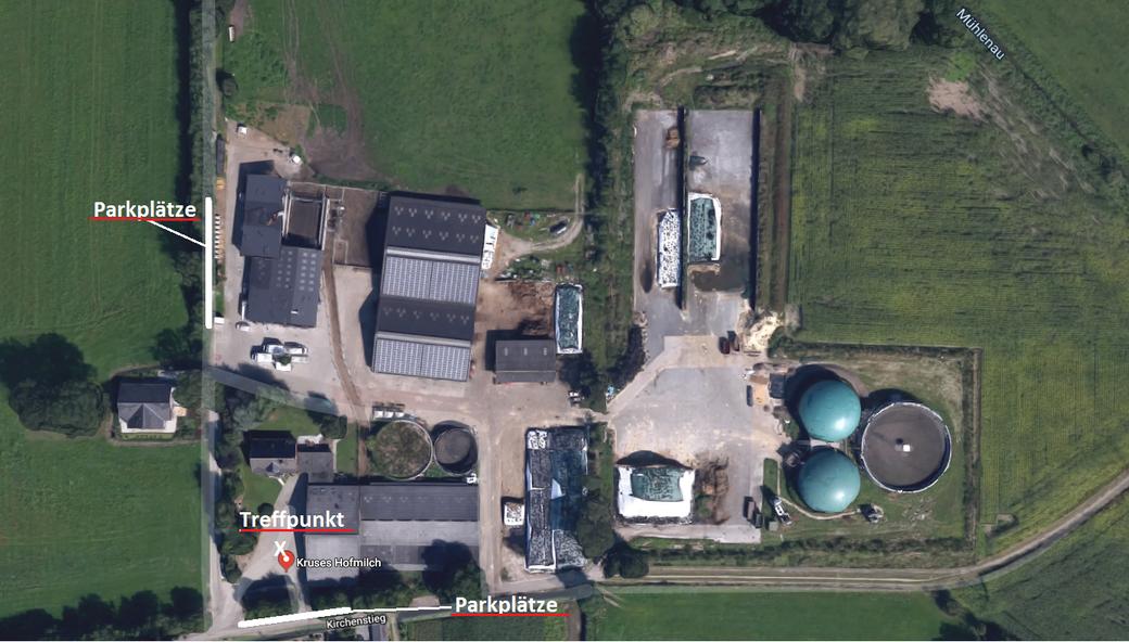 Treffpunkt & Parkmöglichkeiten für Besucher der Hofführung
