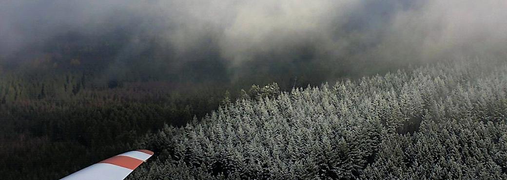 Leben mit der Energiewende TV - WEA-Webcam Ellern: Raureif auf den Bäumen