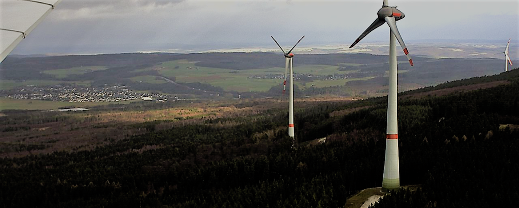 Leben mit der Energiewende TV - Windenergieanlagen E126 bei Ellern im Hunsrück.