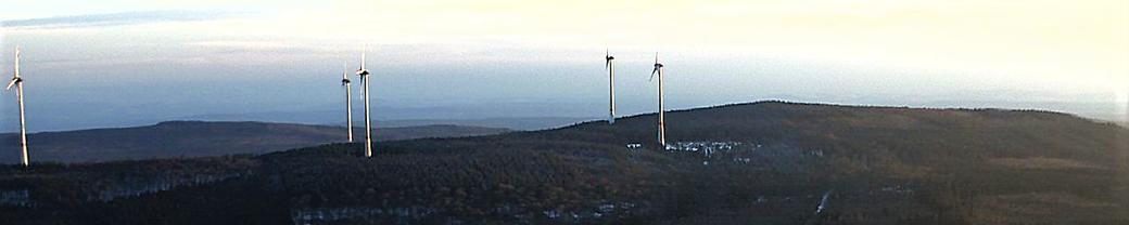 Leben mit der Energiewende - Blick auf das Nordpfälzer Bergland
