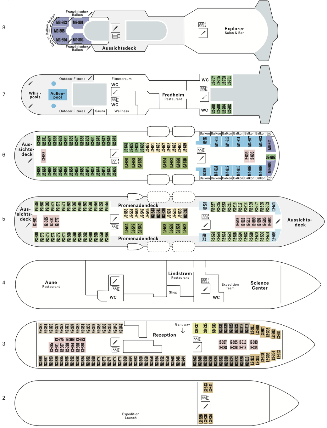Deckplan MS Otto Sverdrup