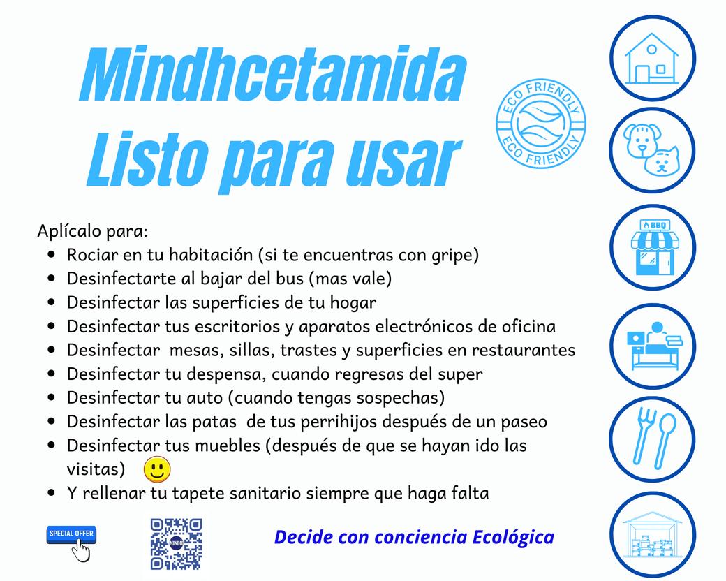 Mindhcetamida desinfectante de sales cuaternarias de amonio de séptima generación listo para usar