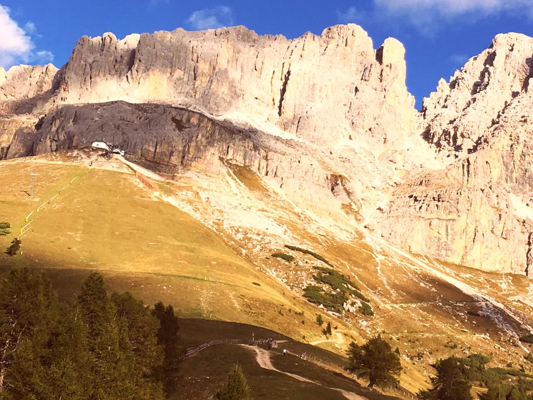 Italien Südtirol Hütten Rosengarten Welschnofen mtb-Tour
