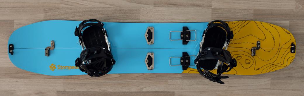 Abb. 5: Splitboard im Ride-Mode (Abfahrtsmodus)