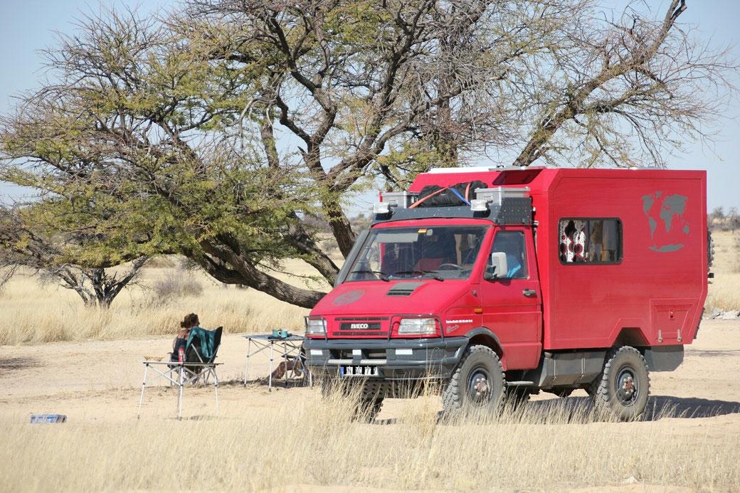 Mabuasehube, Botswana (südliche Kalahari)