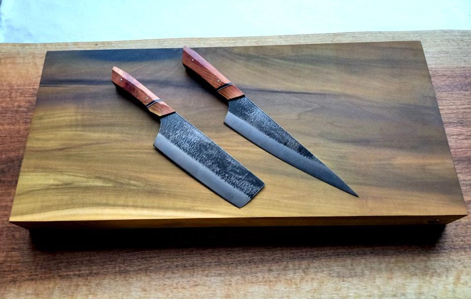 Küchenmesser mit Holzgriff ohne Damast