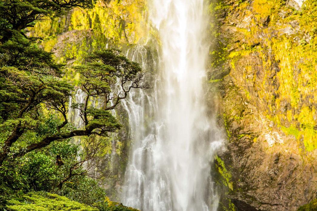 Devil's Punchbowl waterfall, Arthur's Pass, New Zealand