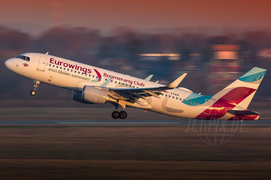 "D-AEWM Eurowings ""Boomerang Club"" Airbus A320 2018 02 18 EDDL Düsseldorf"