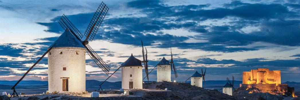Les Moulins de Consuegra  (La Mancha – Estremadure) , Hervé Sentucq