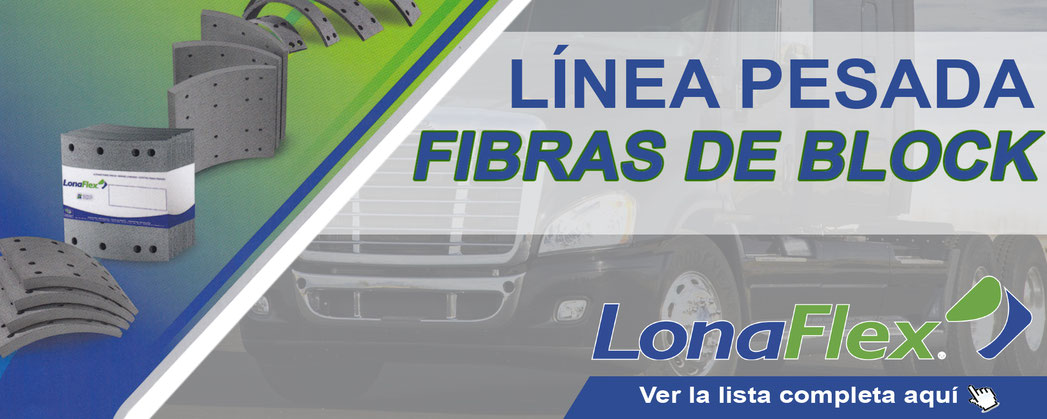 Fibras de Block para línea pesada marca LONAFLEX