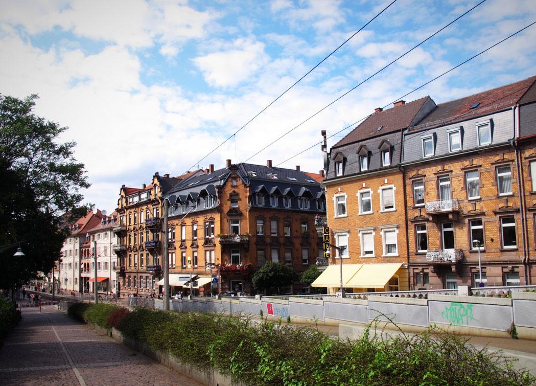 bigousteppes allemagne fribourg tram ville batiments pierres rues