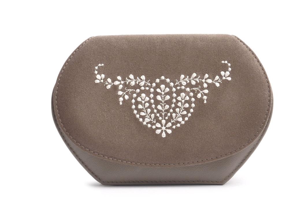 Wiesntasche Trachtentasche ANNA taupe  mit Stickerei OSTWALD Traditional Craft