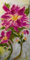 Rosa Blüten, Acryl auf Leinwand, JULIA! Neulinger-Kahl