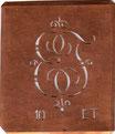 Verschnörkelte Monogramm Schablone