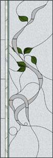曲線のステンドグラス・デザイン