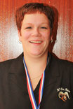 Cynthia van Peer, districtkampioen libre 4e klas