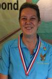 Elly van Haperen, districtkampioen libre 5e klas