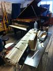 Comment changer les marteaux d'un piano Steinway Modèle D 274 chez Piano Concept