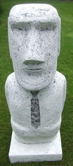 Rapa Nui-Moai-Skulptur-Kunstwerk von künstlerstein.de Mathias Rüffert