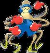 Krake, oktopus, cartoon, Boxer, boxen