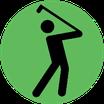 Er zijn veel golfbanen in de omgeving. Voor elke handicap wat wils.