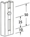 Wandschiene ELEMENT-SYSTEM 1-reihig