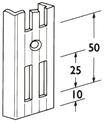 Wandschiene ELEMENT-SYSTEM 2-reihig