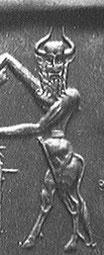 EnKidu, Dios de la fertilidad preindoeuropeo, destronado en la mitología acadia por el pastor Dumuzi.