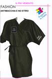 Kimono clienti FASHION no stiro antimacchia con logo ricamato o stampato senza minimi quantitativi