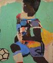Lyle Carbajal, art brut, peinture ethnique, outsider