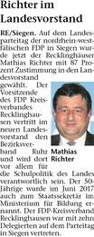 Artikel in der Recklinghäuser Zeitung vom 17.04.2018