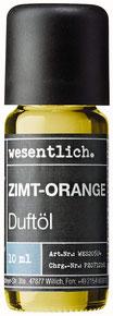 Zimt-Orange Duftöl Premium Raumduft für Lampen und Diffuser - Wellness für die Sinne von wesentlich.
