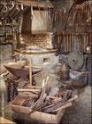 La forge reconstituée au musée du Veinazès