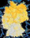 Karte zur Verbreitung des Wiesenpiepers in Deutschland