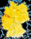 Karte zur Verbreitung der Dorngasmücke in Deutschland
