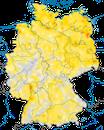 Karte zur Verbreitung des Teichrohrsängers in Deutschland