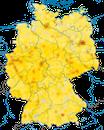 Karte zur Verbreitung des Mauerseglers in Deutschland