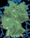 Karte zur Verbreitung des Feldsperlings in Deutschland