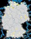 Karte zur Verbreitung der  Schwarzkopfmöwe (Ichthyaetus melanocephalus) in Deutschland