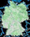 Karte zur Verbreitung des Haubentauchers (Podiceps cristatus) in Deutschland